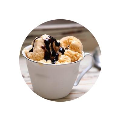 Žloutková zmrzlina s balsamicem