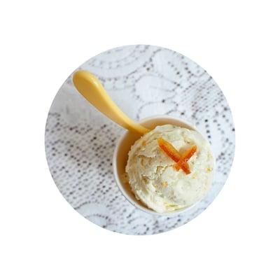 Pomerančová zmrzlina z kysané smetany