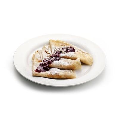 Pohankové palačinky s ricottou a brusinkovou marmeládou