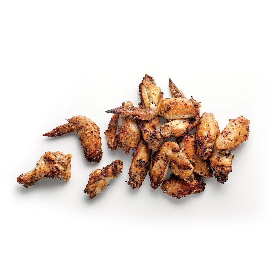 Kuřecí křídla shrubozrnnou hořčicí