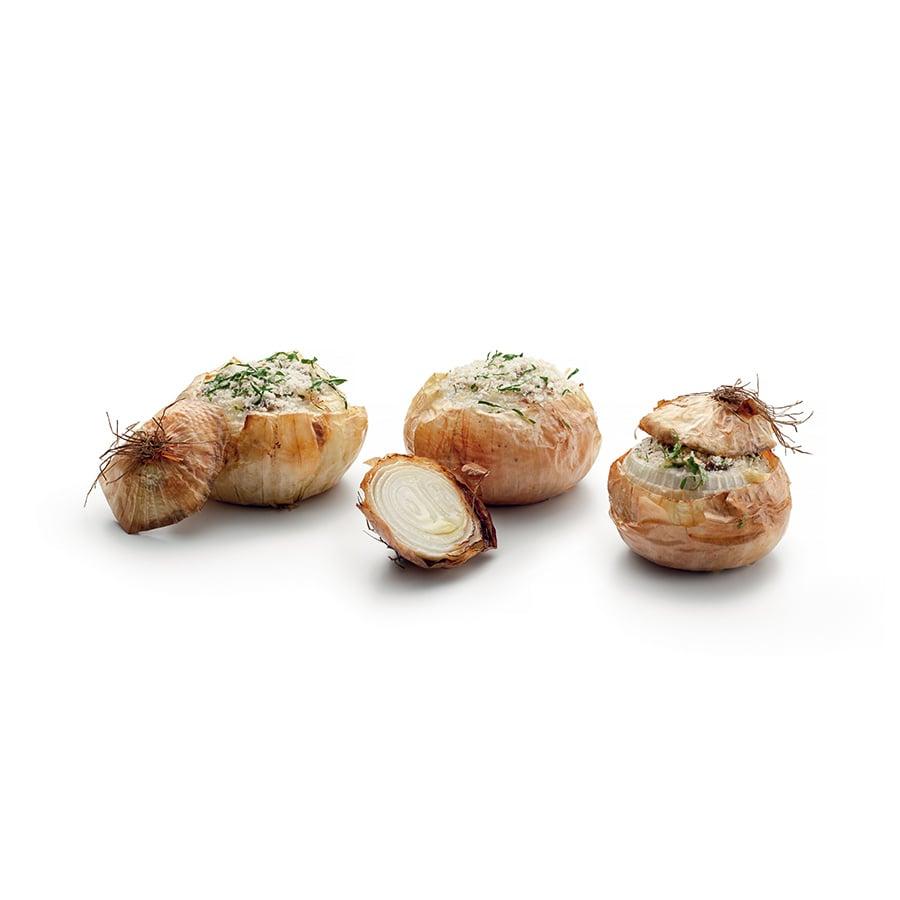 Plněné pečené cibule