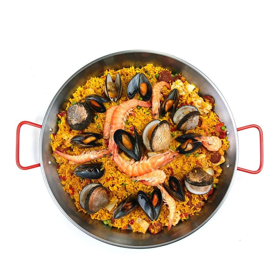 Španělská paella s mořskými plody