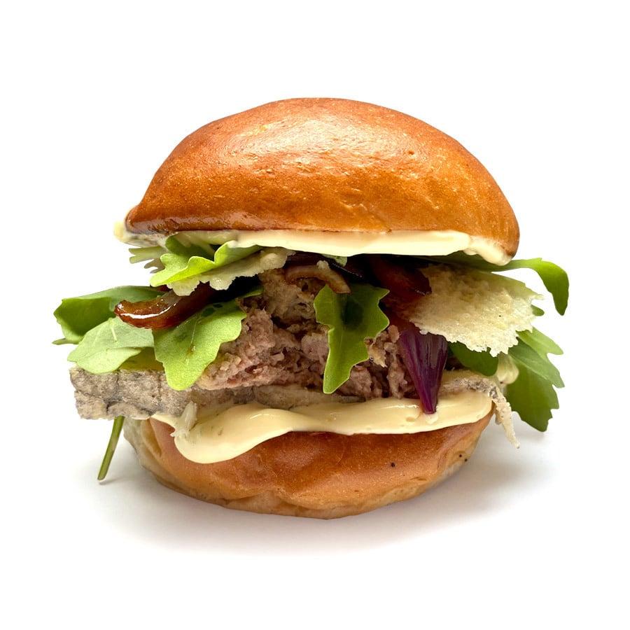 Burger s trhanou kachnou