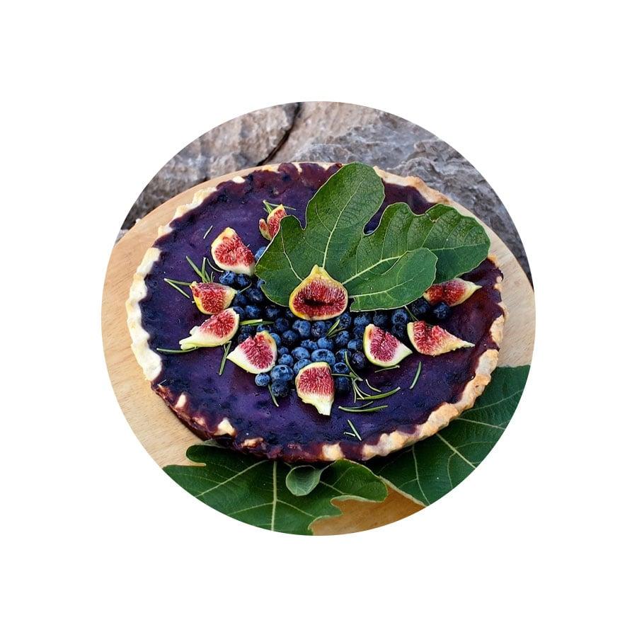 Borůvkový krémový koláč s fíky