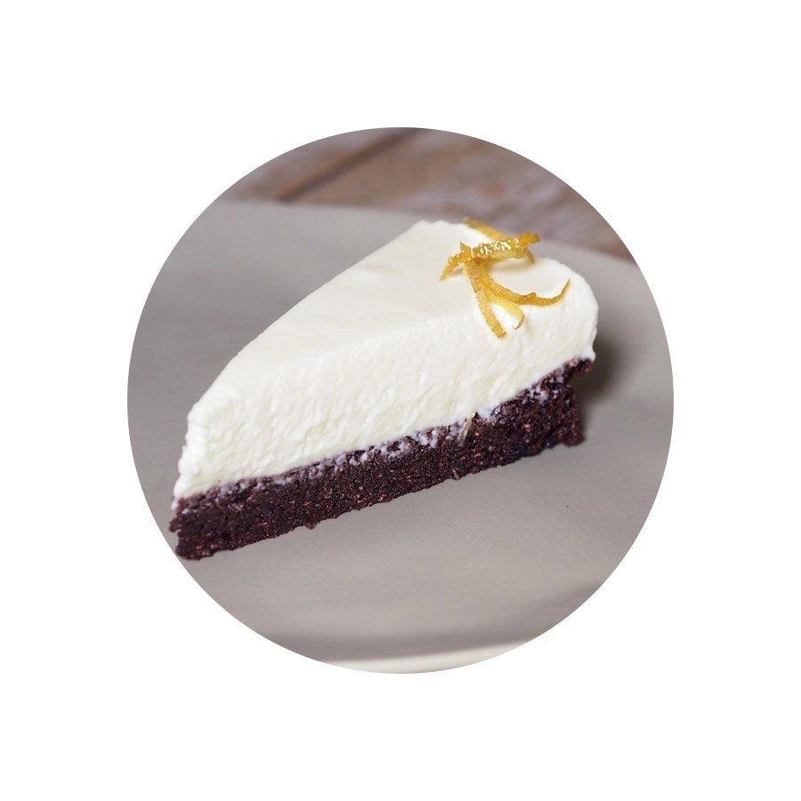 Čokoládový dort s citronovou pěnou