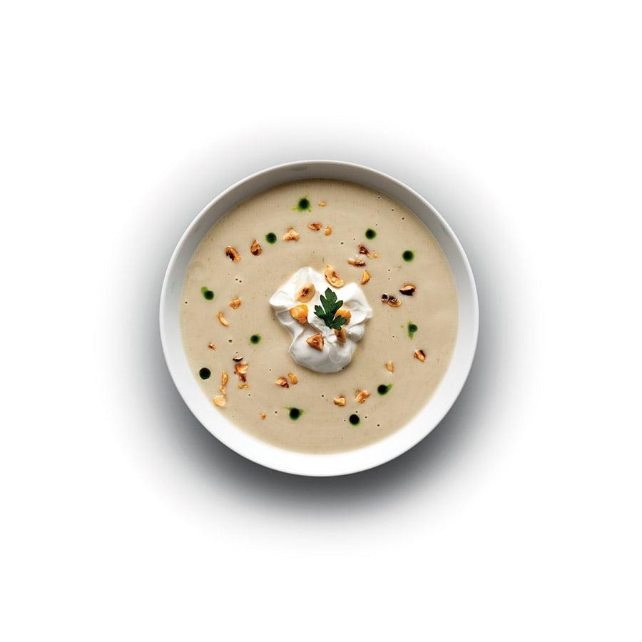 Polévka z pečeného lilku