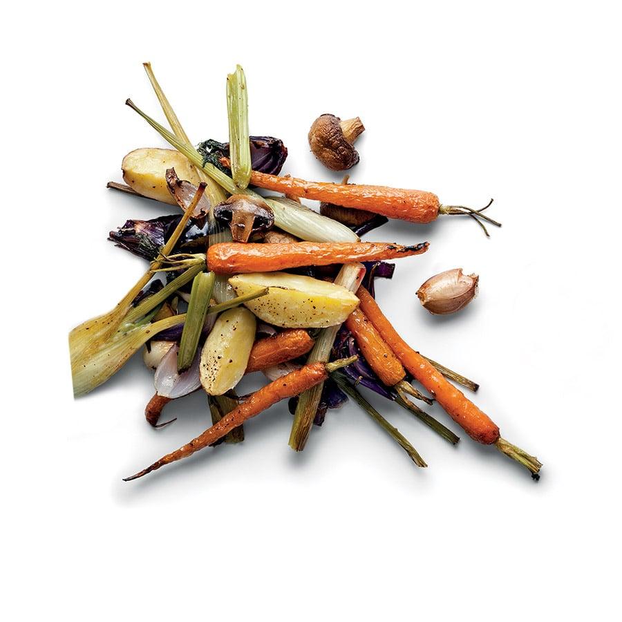 Pečená zelenina a oříškové pesto