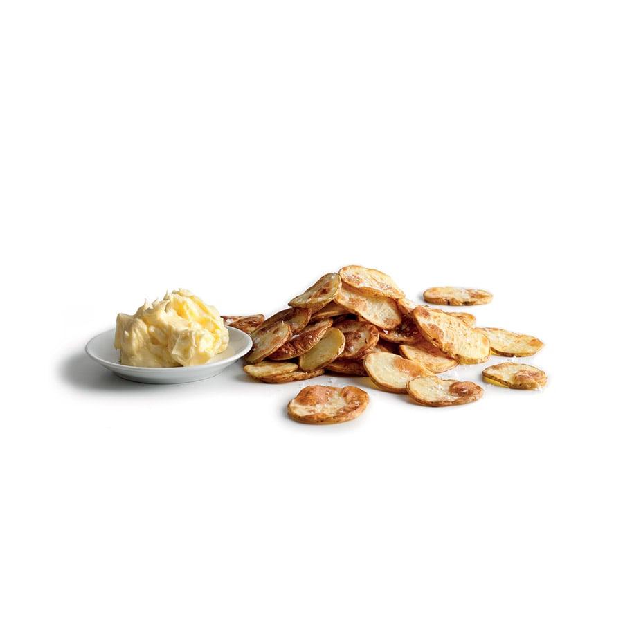 Pečené brambory s česnekovým máslem