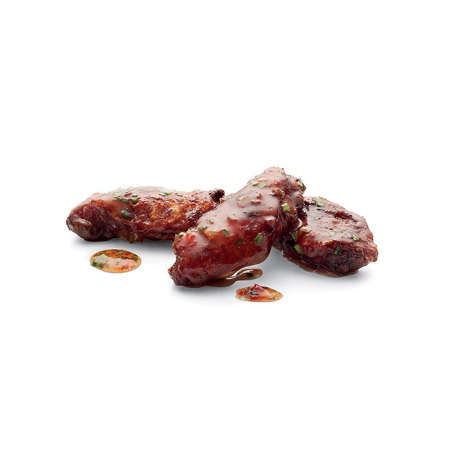 Smažená kuřecí křídla ve sladké chilli omáčce