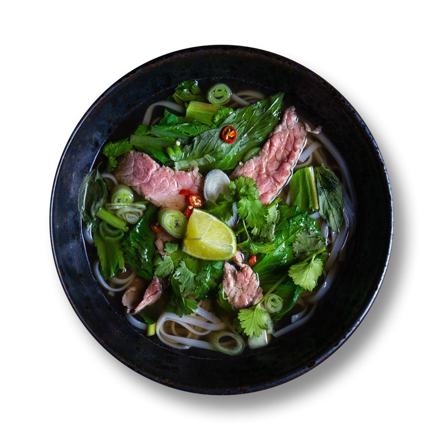 Phở bò – soup with beef and rice noodles
