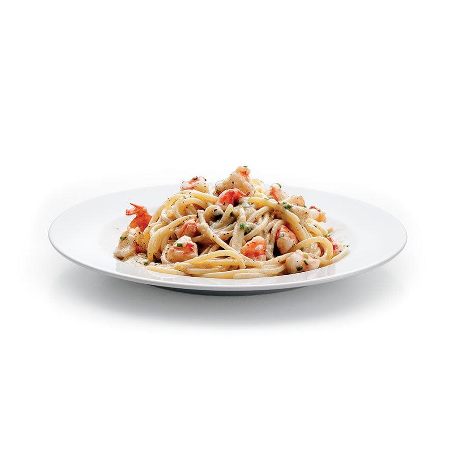 Špagety s pecorinem a krevetami
