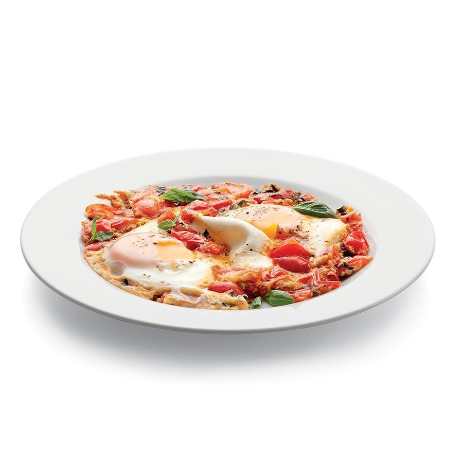 Vejce pečená v rajčatové omáčce