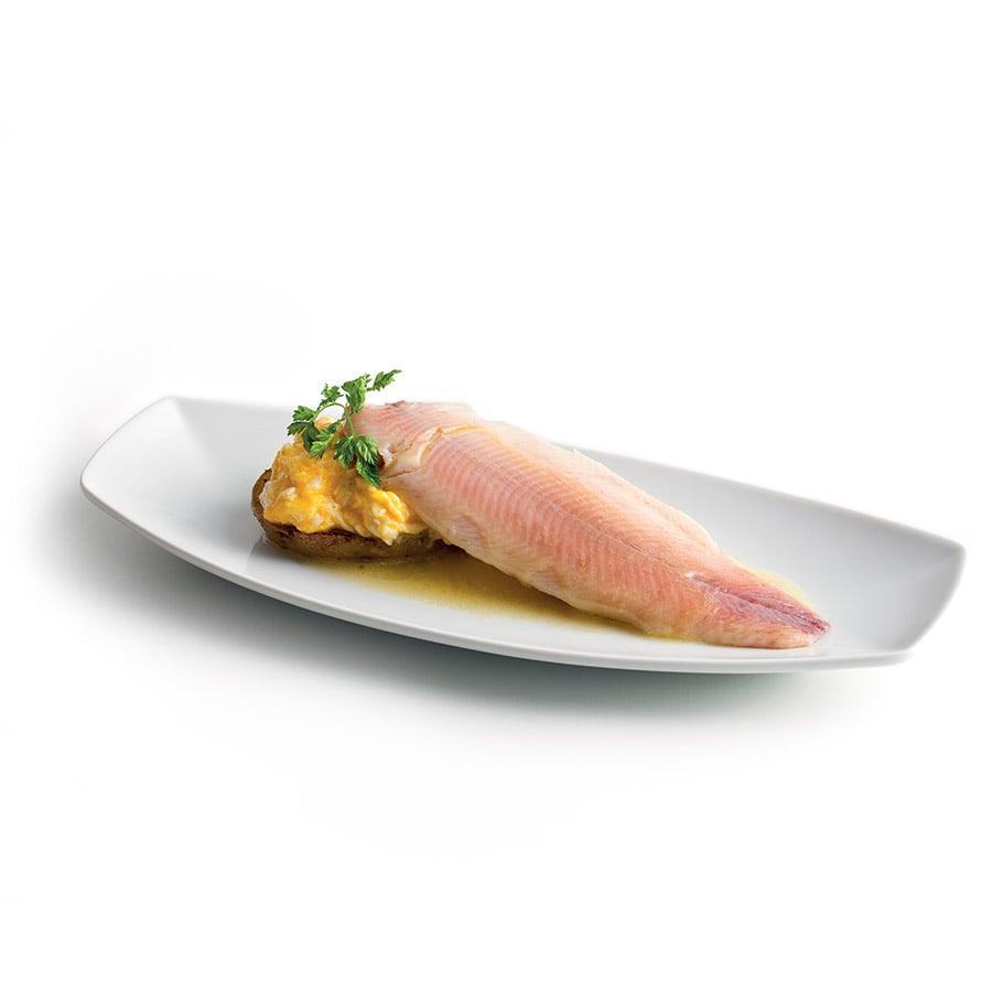 Míchaná vejce s uzeným pstruhem a bramborem