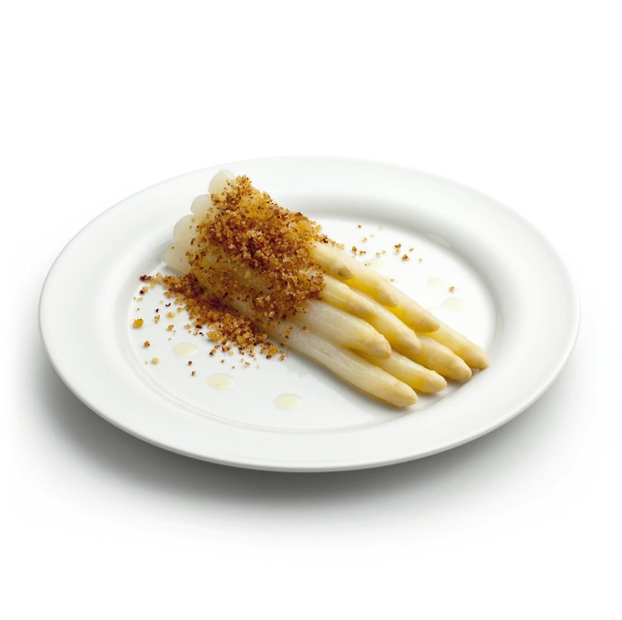 Chřest s máslovou strouhankou