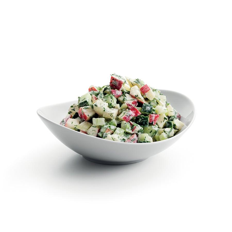 Okurkový salát s jablky a jogurtem