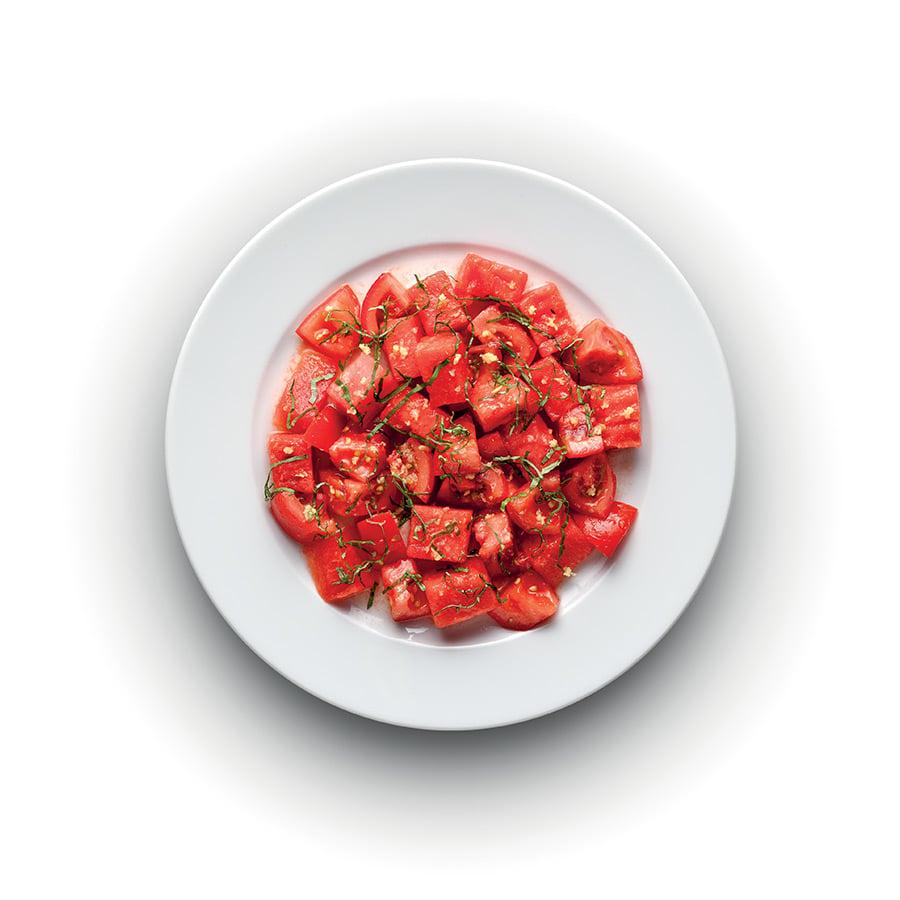 Salát z rajčat a vodního melounu